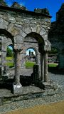 Gamla Mellifont Abbey Ireland Arkivfoto