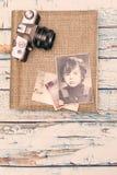Gamla minnen för fotografialbum Royaltyfria Bilder