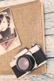 Gamla minnen för fotografialbum Royaltyfria Foton