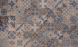 Gamla modeller för keramiska tegelplattor för vägg handcraft arkivbild