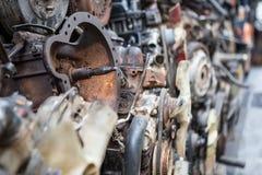 Gamla motorer av bilen royaltyfri bild