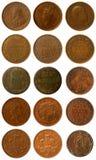 Gamla mynt Arkivbild
