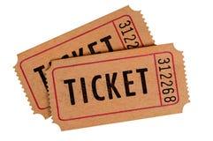 Gamla nedfläckade biljetter royaltyfria foton