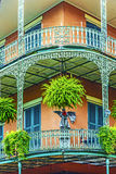 Gamla New Orleans hus i franskt arkivbild