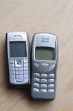 Gamla nokia telefoner Arkivbilder