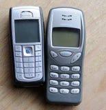 Gamla nokia telefoner Royaltyfri Fotografi