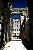 Gamla nyckel eller Roman Arch i Rijeka, Kroatien Arkivfoton