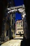 Gamla nyckel eller Roman Arch i Rijeka, Kroatien Royaltyfri Foto
