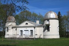 Gamla observatoriumbyggnader av det Vilnius universitetet Fotografering för Bildbyråer