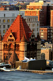 Gamla och moderna byggnader i Boston Royaltyfri Foto