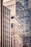 Gamla och moderna Manhattan skyskrapor, New York City Arkivfoto