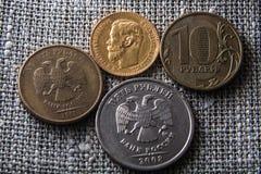 Gamla och nya rubel Royaltyfri Fotografi