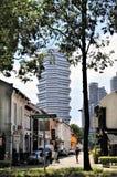 Gamla och nya Singapore Arkivfoton