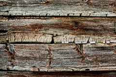 Gamla och slitna träplankor royaltyfria bilder
