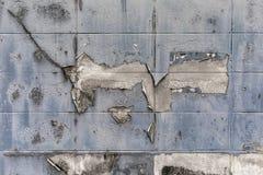 Gamla och smutsiga cementkvarterväggar texturerade bakgrund Arkivfoto