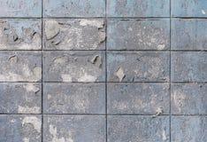 Gamla och smutsiga cementkvarterväggar texturerade bakgrund Royaltyfria Foton