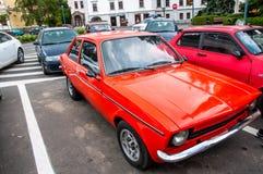 Gamla Opel Kadett på den lokala veteranbilshowen Arkivbilder