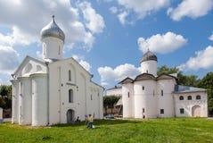 Gamla ortodoxa kyrkor för ryss Arkivfoton