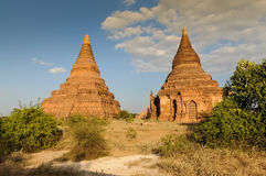 Gamla pagoder i Bagan Arkivbilder