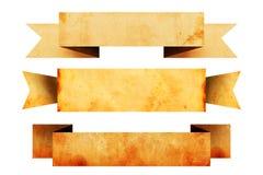 Gamla pappers- baner som kopieringsutrymme Royaltyfria Foton
