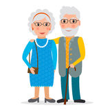 Gamla par - man och kvinna vektor illustrationer