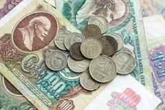 Gamla pengar i Sovjetunionenet Royaltyfria Bilder