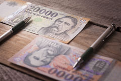 Gamla pengar, nya pengar Fotografering för Bildbyråer