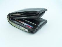 Gamla plånbokpengar Royaltyfria Bilder