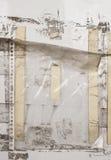 Gamla plast- muffar på en vägg Royaltyfri Bild