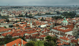 Gamla Prague, Tjeckien Arkivbild