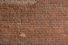 Gamla röda tegelstenar och vitt cement, väggtextur Fotografering för Bildbyråer