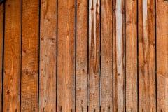 Gamla röda wood plankor Arkivbild