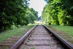Gamla railtracks royaltyfria foton