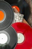 Gamla rekord för lång lek för vinyl Arkivfoto