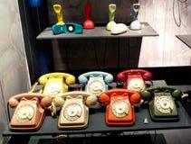 Gamla retro telefoner Royaltyfria Foton