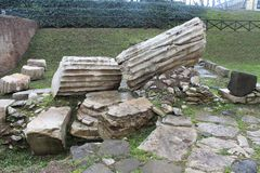 Gamla Roman Building Supplies Royaltyfri Bild