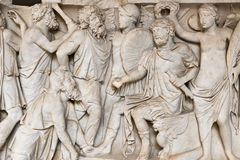 Gamla Roman Relief royaltyfria bilder