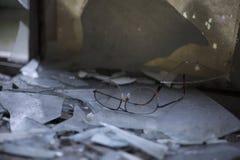 Gamla rostiga exponeringsglas arkivfoton