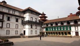 Gamla Royal Palace, Durbar fyrkant i Katmandu Royaltyfri Bild
