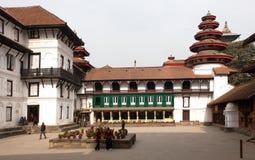 Gamla Royal Palace, Durbar fyrkant i Katmandu Royaltyfri Foto