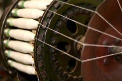 Gamla rullar för snurrmaskiner Royaltyfri Foto