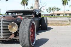 Gamla Rusty American Chevy Rat Rod Royaltyfri Fotografi