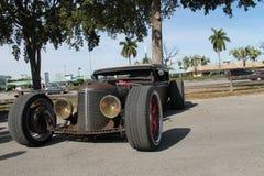 Gamla Rusty American Chevy Rat Rod Arkivfoton