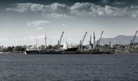 Gamla Rusty Boats Royaltyfria Foton