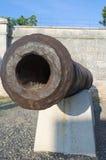 Gamla Rusty Cannon Closeup Royaltyfria Bilder