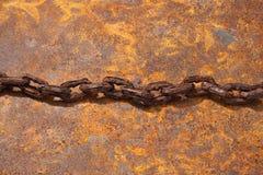 Gamla Rusty Chain Background Fotografering för Bildbyråer