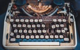 Gamla Rusty Grunge Buttons Typewriter royaltyfri bild