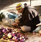 Gamla säljare i souken Fotografering för Bildbyråer