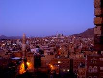 Gamla Sanaa City - Yemen Royaltyfri Fotografi