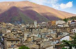 Gamla Scanno i Abruzzo Royaltyfria Foton